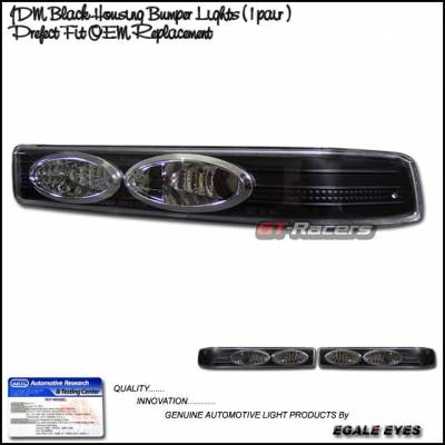 Headlights & Tail Lights - Corner Lights - Custom - Black Clear Corner Lights