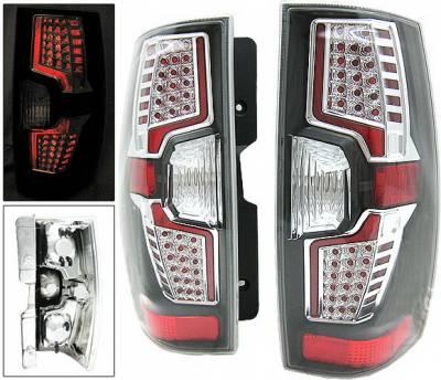 Headlights & Tail Lights - Led Tail Lights - 4 Car Option - Chevrolet Suburban 4 Car Option LED Taillights - Black - LT-CST07LEDJB-7