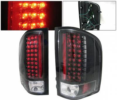 Headlights & Tail Lights - Led Tail Lights - 4 Car Option - Chevrolet Silverado 4 Car Option LED Taillights - Black - LT-CSV07LEDJB-KS