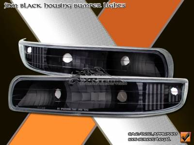 Headlights & Tail Lights - Corner Lights - Custom - Black Housing  Corner Lights