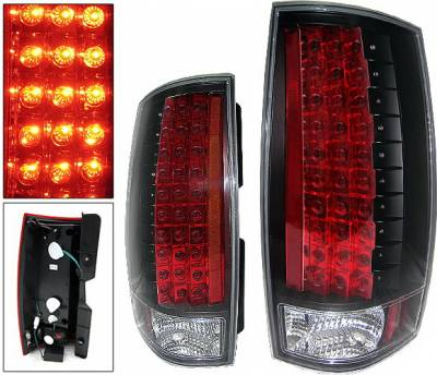 Headlights & Tail Lights - Led Tail Lights - 4 Car Option - Chevrolet Tahoe 4 Car Option LED Taillights - Black - LT-CT07LEDJB-KS
