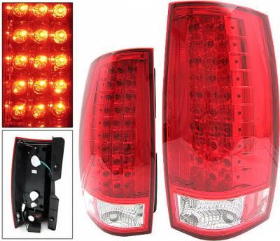 Headlights & Tail Lights - Led Tail Lights - 4 Car Option - Chevrolet Suburban 4 Car Option LED Taillights - Red - LT-CT07LEDR-KS