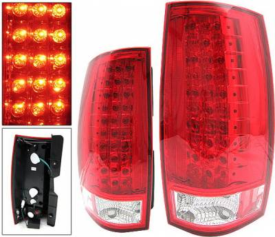 Headlights & Tail Lights - Led Tail Lights - 4 Car Option - Chevrolet Tahoe 4 Car Option LED Taillights - Red - LT-CT07LEDR-KS