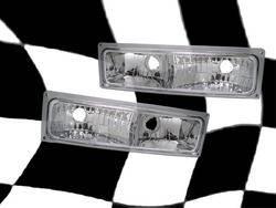 Headlights & Tail Lights - Corner Lights - Custom - Euro Chrome Bumper Lights