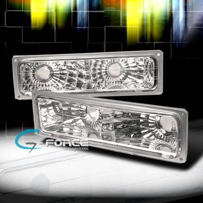 Headlights & Tail Lights - Corner Lights - Custom - Chrome Clear Bumper Lights