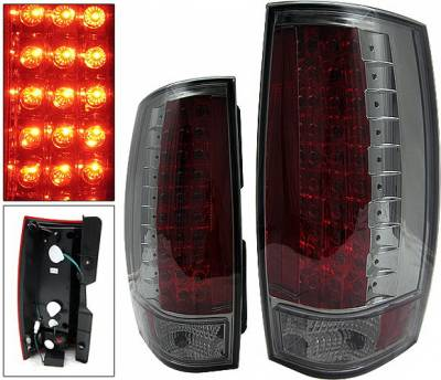 Headlights & Tail Lights - Led Tail Lights - 4 Car Option - Chevrolet Tahoe 4 Car Option LED Taillights - Smoke - LT-CT07LEDSM-KS