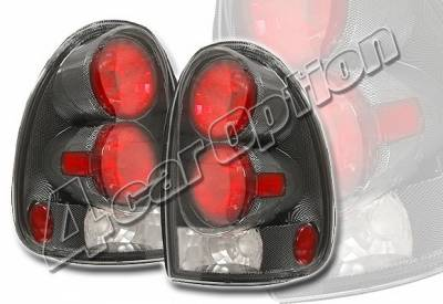 Headlights & Tail Lights - Tail Lights - 4 Car Option - Dodge Caravan 4 Car Option Altezza Taillights - Carbon Fiber Style - LT-DC96F-YD