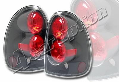 Headlights & Tail Lights - Tail Lights - 4 Car Option - Dodge Caravan 4 Car Option Altezza Taillights - Black - LT-DC96JB-YD