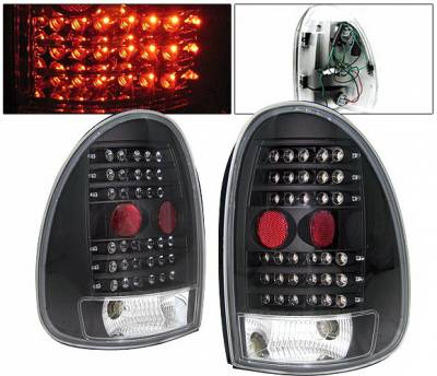 Headlights & Tail Lights - Led Tail Lights - 4 Car Option - Plymouth Voyager 4 Car Option LED Taillights - Black - LT-DC96LEDJB-KS