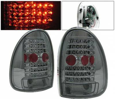 Headlights & Tail Lights - Led Tail Lights - 4 Car Option - Plymouth Voyager 4 Car Option LED Taillights - Smoke - LT-DC96LEDSM-KS