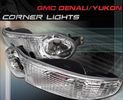 Headlights & Tail Lights - Corner Lights - Custom - JDM Chrome Bumper Lights