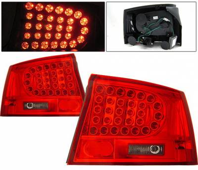 Headlights & Tail Lights - Led Tail Lights - 4 Car Option - Dodge Charger 4 Car Option LED Taillights - Red & Smoke - LT-DCHAR06LEDRSM-KS