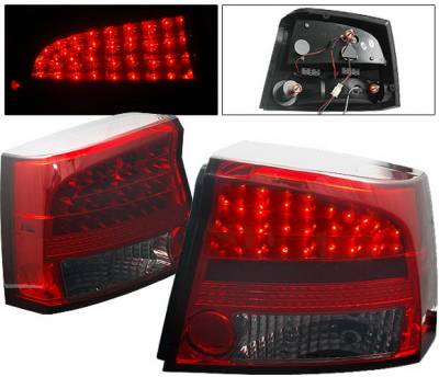 Headlights & Tail Lights - Led Tail Lights - 4CarOption - Dodge Charger 4CarOption LED Taillights - LT-DCHAR06LEDRSM-YD