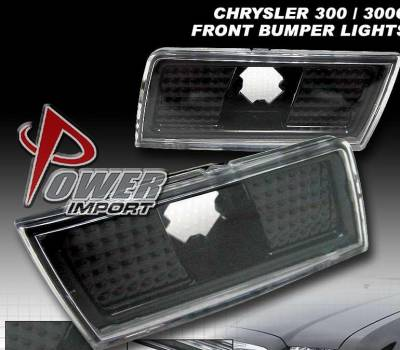 Headlights & Tail Lights - Corner Lights - Custom - Black Front Bumper Lights