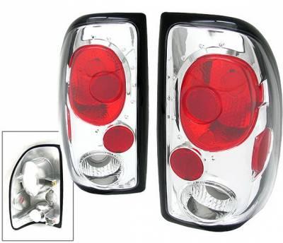 Headlights & Tail Lights - Tail Lights - 4 Car Option - Dodge Dakota 4 Car Option Altezza Taillights - Chrome - LT-DD97A-KS