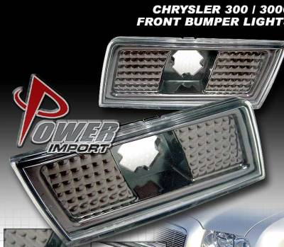 Headlights & Tail Lights - Corner Lights - Custom - Smoke Front Bumper Lights