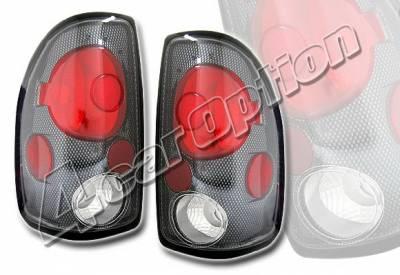 Headlights & Tail Lights - Tail Lights - 4 Car Option - Dodge Dakota 4 Car Option Altezza Taillights - Carbon Fiber Style - LT-DD97F-KS