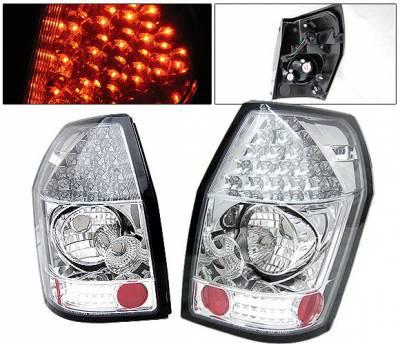 Headlights & Tail Lights - Led Tail Lights - 4 Car Option - Dodge Magnum 4 Car Option LED Taillights - Chrome - LT-DMAG05LEDC-YD
