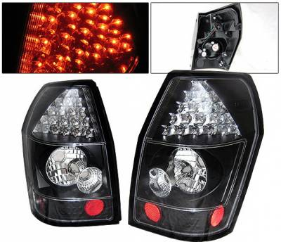 Headlights & Tail Lights - Led Tail Lights - 4 Car Option - Dodge Magnum 4 Car Option LED Taillights - Black - LT-DMAG05LEDJB-YD