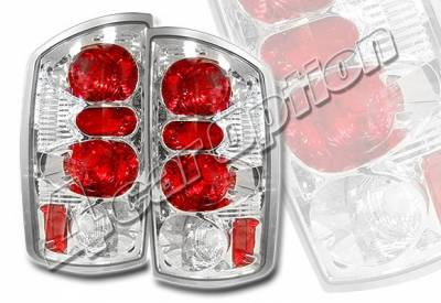 Headlights & Tail Lights - Tail Lights - 4 Car Option - Dodge Ram 4 Car Option Altezza Taillights - Chrome - LT-DR02A-YD