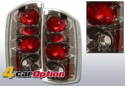 Headlights & Tail Lights - Tail Lights - 4 Car Option - Dodge Ram 4 Car Option Altezza Taillights - Gunmetal - LT-DR02G-YD