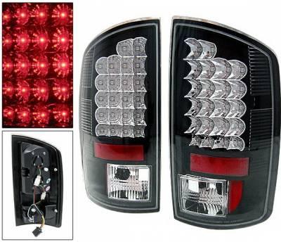 Headlights & Tail Lights - Led Tail Lights - 4 Car Option - Dodge Ram 4 Car Option LED Taillights - Black - LT-DR02LEDJB