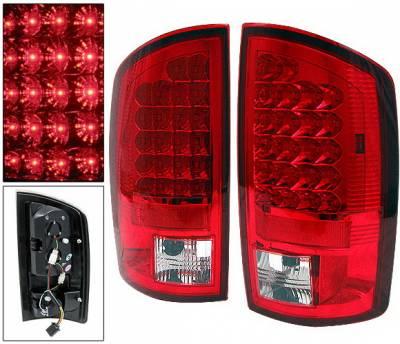 Headlights & Tail Lights - Led Tail Lights - 4 Car Option - Dodge Ram 4 Car Option LED Taillights - Red - LT-DR02LEDR