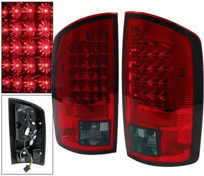 Headlights & Tail Lights - Led Tail Lights - 4 Car Option - Dodge Ram 4 Car Option LED Taillights - Red & Smoke - LT-DR02LEDRSM