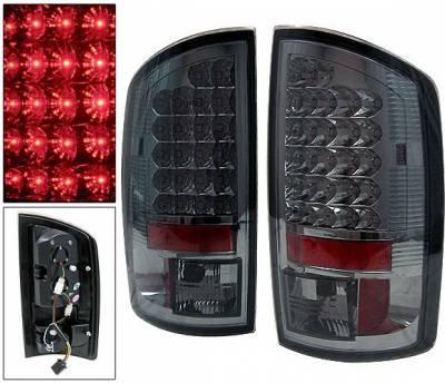 Headlights & Tail Lights - Led Tail Lights - 4 Car Option - Dodge Ram 4 Car Option LED Taillights - Smoke - LT-DR02LEDSM