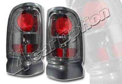 Headlights & Tail Lights - Tail Lights - 4 Car Option - Dodge Ram 4 Car Option Altezza Taillights - Carbon Fiber Style - LT-DR94F-YD