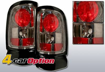Headlights & Tail Lights - Tail Lights - 4 Car Option - Dodge Ram 4 Car Option Altezza Taillights - Gunmetal - LT-DR94G-YD