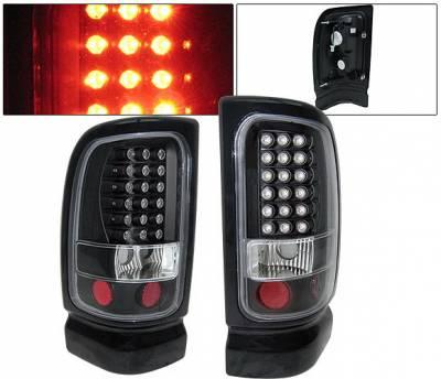 Headlights & Tail Lights - Led Tail Lights - 4 Car Option - Dodge Ram 4 Car Option LED Taillights - Black - LT-DR94LEDJB-KS