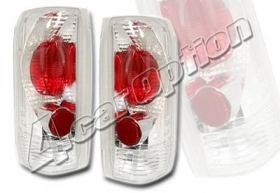 Headlights & Tail Lights - Tail Lights - 4 Car Option - Ford Bronco 4 Car Option Altezza Taillights - Chrome - LT-FB92A-KS
