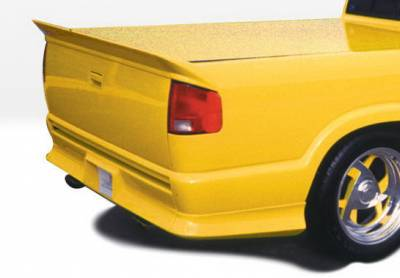 Suv Truck Accessories - Roll Pans - Wings West - Chevrolet S10 Wings West Custom Style Rear Roll Pan - 890010