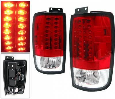 Headlights & Tail Lights - Led Tail Lights - 4 Car Option - Ford Expedition 4 Car Option LED Taillights - Red - LT-FE97LEDR