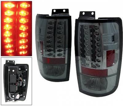 Headlights & Tail Lights - Led Tail Lights - 4 Car Option - Ford Expedition 4 Car Option LED Taillights - Smoke - LT-FE97LEDSM