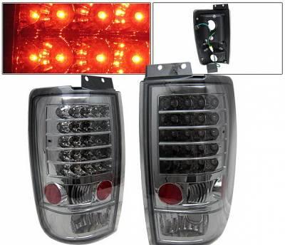 Headlights & Tail Lights - Led Tail Lights - 4 Car Option - Ford Expedition 4 Car Option LED Taillights - Smoke - LT-FE97LEDSM-KS