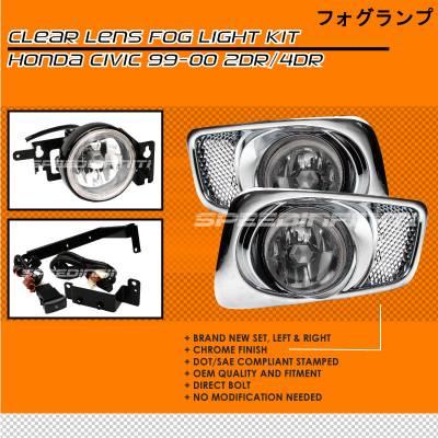 Headlights & Tail Lights - Fog Lights - Custom - Clear Lens Fog Lights
