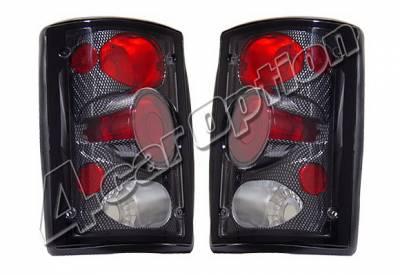 Headlights & Tail Lights - Tail Lights - 4 Car Option - Ford Excursion 4 Car Option Taillights - Carbon Fiber Style - LT-FEC00CF-KS