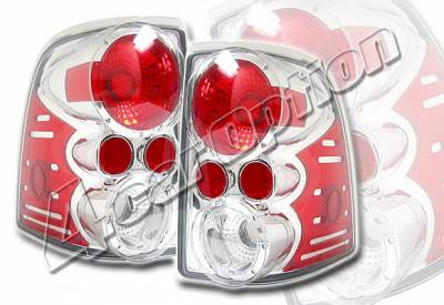Headlights & Tail Lights - Tail Lights - 4 Car Option - Ford Explorer 4 Car Option Altezza Taillights - V2 - Chrome - LT-FER02A-KS