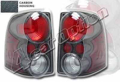 Headlights & Tail Lights - Tail Lights - 4 Car Option - Ford Explorer 4 Car Option Altezza Taillights - V2 - Carbon Fiber Style - LT-FER02F-KS
