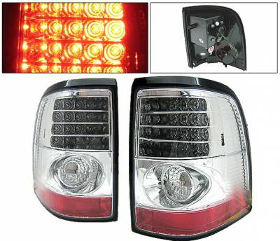 Headlights & Tail Lights - Led Tail Lights - 4 Car Option - Ford Explorer 4 Car Option LED Taillights - Chrome - LT-FER02LEDC-YD