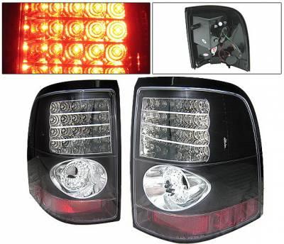 Headlights & Tail Lights - Led Tail Lights - 4 Car Option - Ford Explorer 4 Car Option LED Taillights - Black - LT-FER02LEDJB-YD