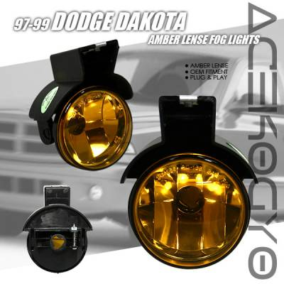 Headlights & Tail Lights - Fog Lights - Custom - Amber Diamond Fog Lights
