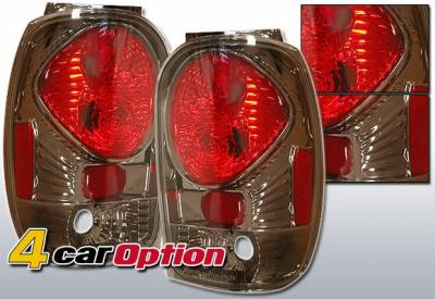 Headlights & Tail Lights - Tail Lights - 4 Car Option - Ford Explorer 4 Car Option Altezza Taillights - Gunmetal - LT-FER98G-YD