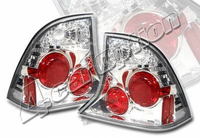 Headlights & Tail Lights - Tail Lights - 4 Car Option - Ford Focus 4DR 4 Car Option Altezza Taillights - Chrome - LT-FF004A-YD