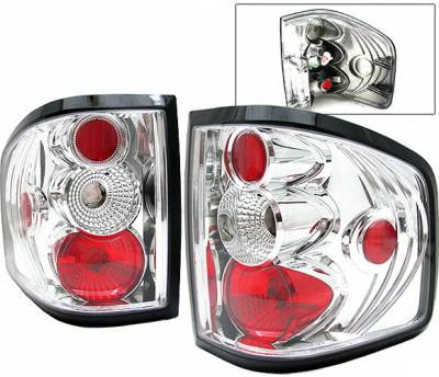 Headlights & Tail Lights - Tail Lights - 4 Car Option - Ford F150 4 Car Option Altezza Taillights - Chrome - LT-FF15004A-YD
