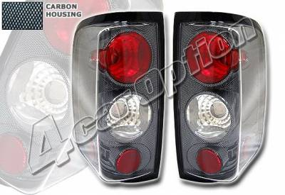 Headlights & Tail Lights - Tail Lights - 4 Car Option - Ford F150 4 Car Option Altezza Taillights - Carbon Fiber Style - LT-FF15004F-YD