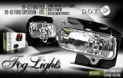 Headlights & Tail Lights - Fog Lights - Custom - Euro Diamond Fog Lights