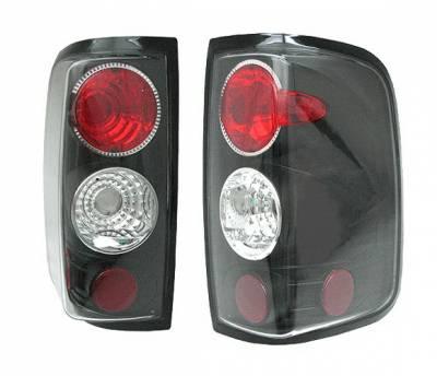 Headlights & Tail Lights - Tail Lights - 4 Car Option - Ford F150 4 Car Option Altezza Taillights - Black - LT-FF15004JB-YD